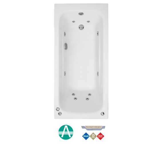 Phoenix Crystal Amanzonite Single Ended 1700 x 800mm Whirlpool Bath