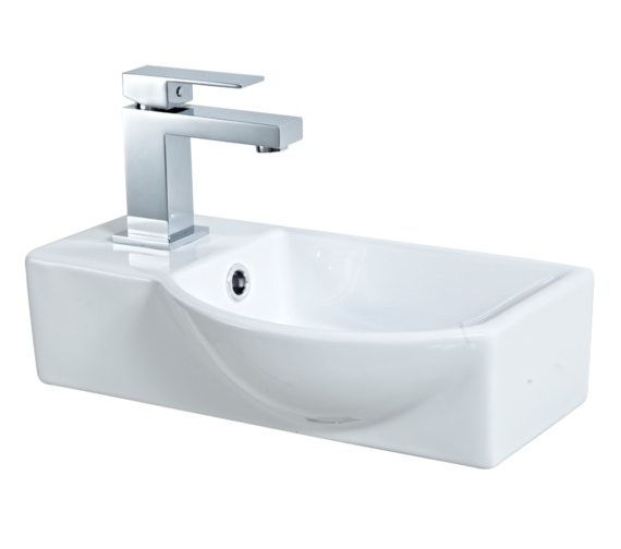 Phoeinx Emma 400mm Wall Mounted Basin White