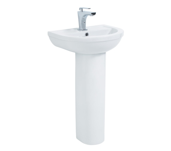 Phoenix Emma 500 Basin And Full Pedestal White