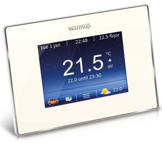 Warmup 4iE Smart WiFi Bright Porcelain Finish Thermostat