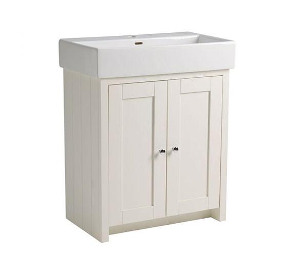 Tavistock Lansdown 700mm Freestanding Vanity Unit - Linen White
