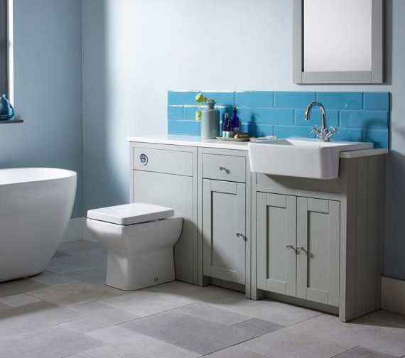 Additional image of Tavistock Lansdown 700mm Freestanding Vanity Unit - Linen White