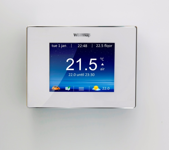 Alternate image of Warmup 4iE Smart WiFi Bright Porcelain Finish Thermostat