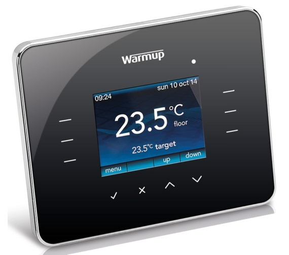 Warmup 3iE Programmable Piano Black Finish Thermostat