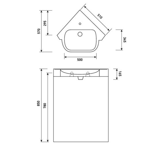Technical drawing QS-V81622 / FU082