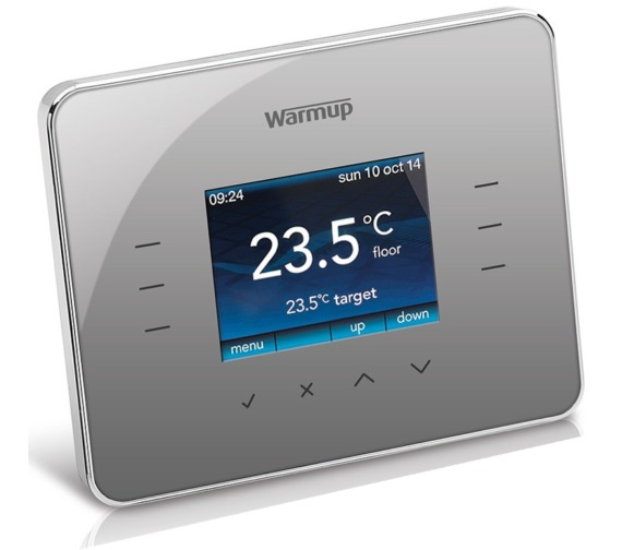 Warmup 3iE Programmable Silver Grey Finish Thermostat