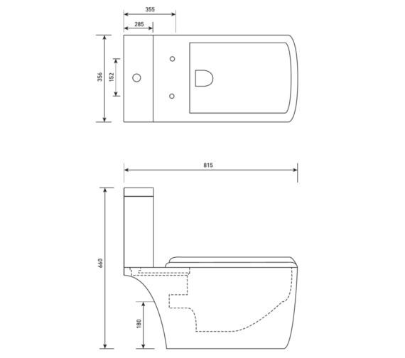 Technical drawing QS-V21213 / MQ040