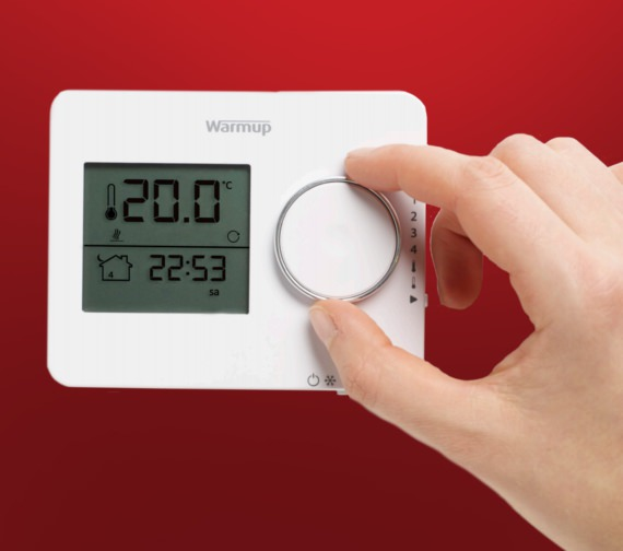 Alternate image of Warmup Tempo Programmable Porcelain White Finish Thermostat