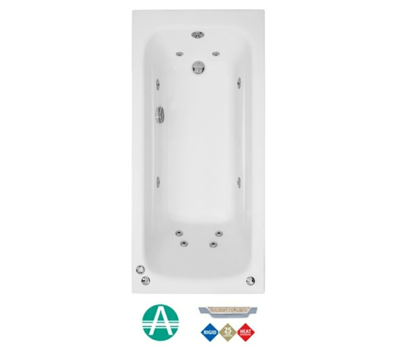 Phoenix Crystal Amanzonite Single Ended 1800 x 700mm Whirlpool Bath