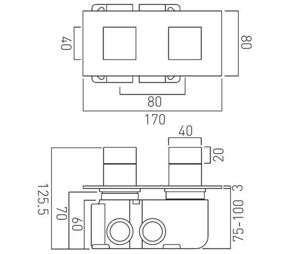Technical drawing QS-V83528 / TAB-148/2-H-NOT-C/P