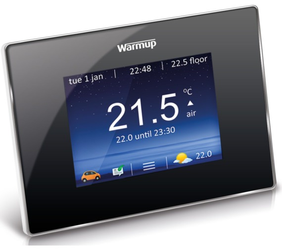 Warmup 4iE Smart WiFi Onyx Black Finish Thermostat