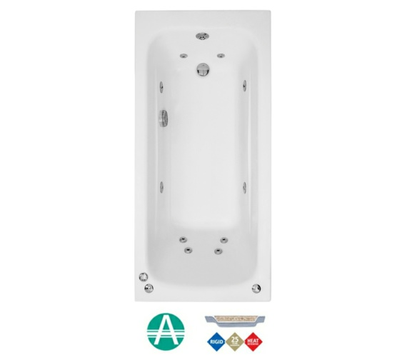 Phoenix Crystal Amanzonite Single Ended 1800 x 800mm Whirlpool Bath