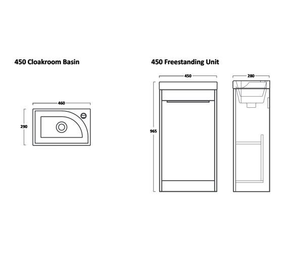Technical drawing QS-V16534 / SQ450FW