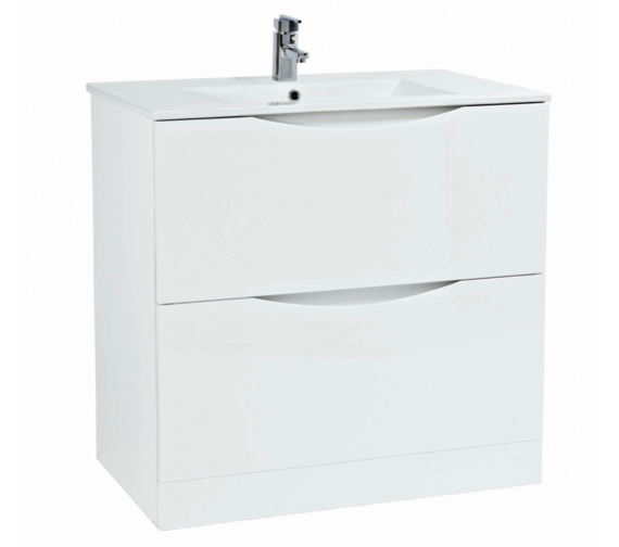 Phoenix Malmo 900mm Floor Standing White Unit With Basin