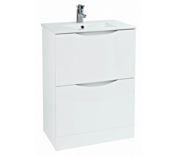 Phoenix Malmo 600mm Floor Standing White Unit With Basin