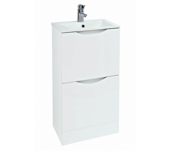 Phoenix Malmo 400mm Floor Standing White Unit With Basin