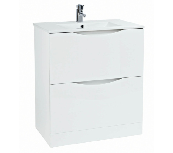 Phoenix Malmo 750mm Floor Standing White Unit With Basin