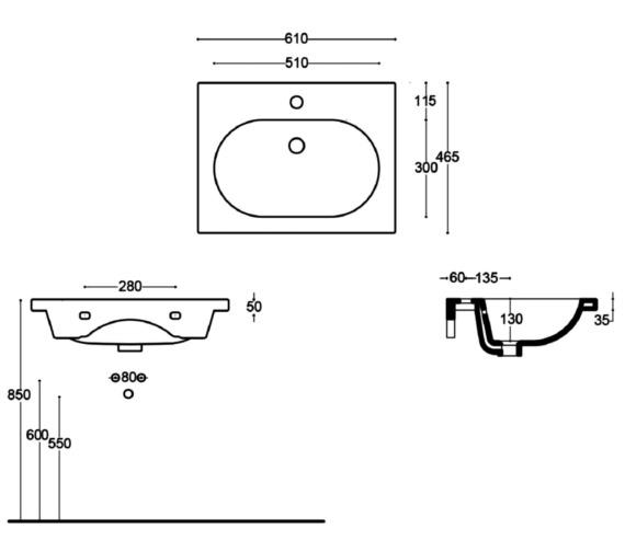 Technical drawing QS-V81640 / VB050
