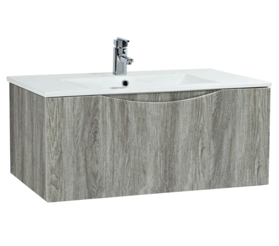 Phoenix Malmo 900mm Wall Mounted Avola Unit With Basin