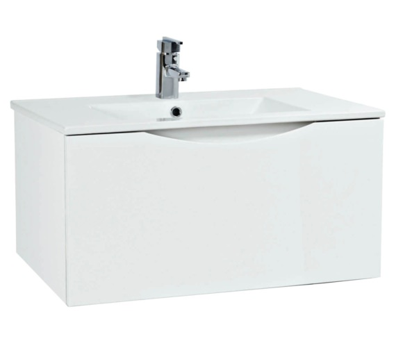 Phoenix Malmo 750mm Wall Mounted White Unit With Basin