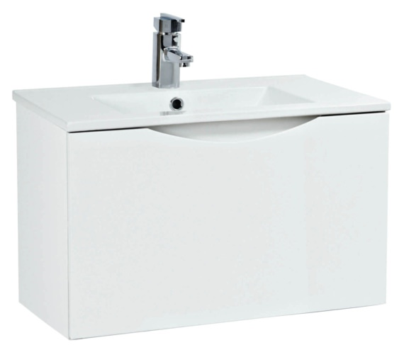 Phoenix Malmo 600mm Wall Mounted White Unit With Basin