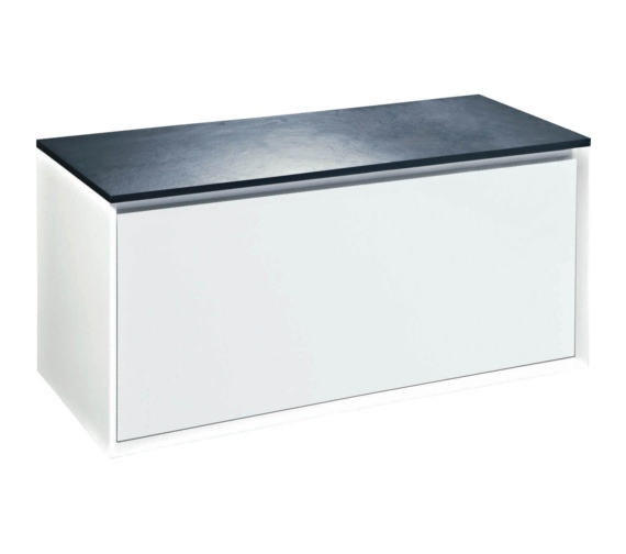 Phoenix Enzo 1010mm White Unit With Mineral Cast Slate Effect Worktop