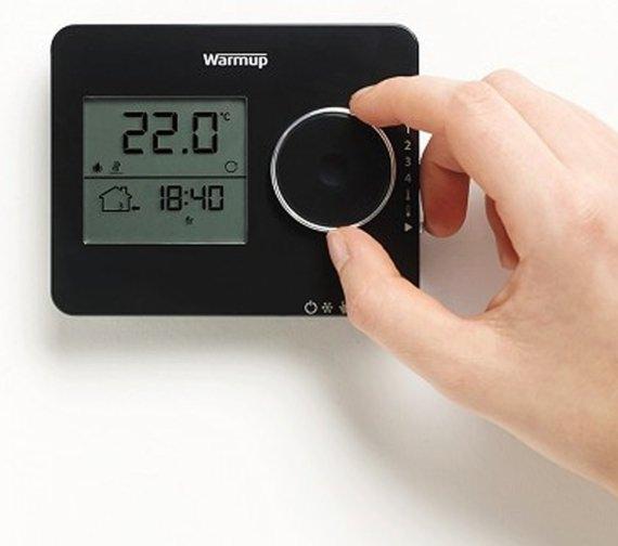 Alternate image of Warmup Tempo Programmable Piano Black Finish Thermostat