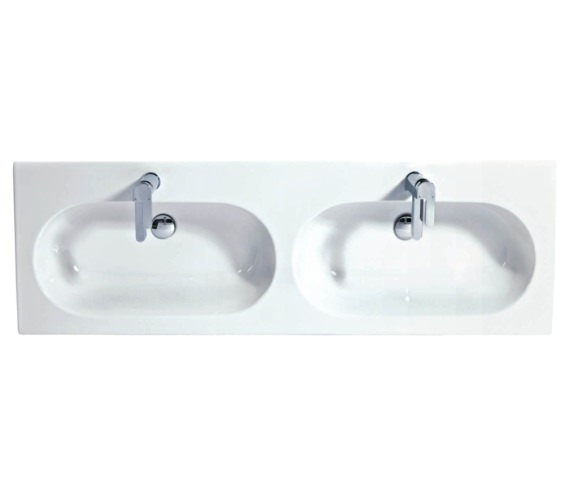 Phoenix Enzo 1410mm Wall Mounted White Double Ceramic Basin