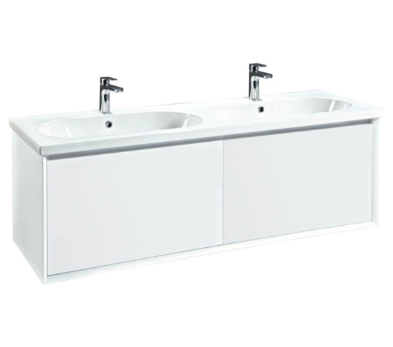 Phoenix Enzo 1410mm White Wall Mounted Vanity Unit With Ceramic Basin