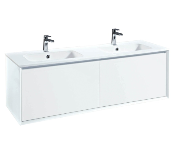 Phoenix Enzo 1410mm White Wall Mount Vanity Unit With Mineral Cast Basin