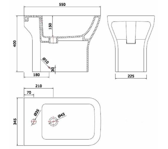 Technical drawing QS-V6719 / MN006