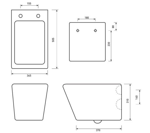 Technical drawing QS-V6721 / MN046
