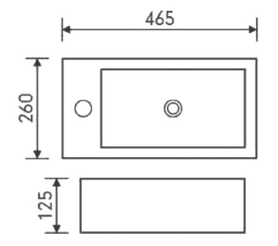 Technical drawing QS-V6724 / FU076