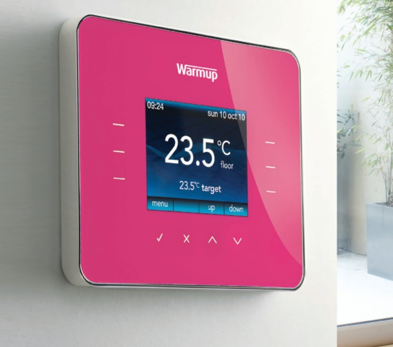 Alternate image of Warmup 3iE Programmable Deep Pink Finish Thermostat