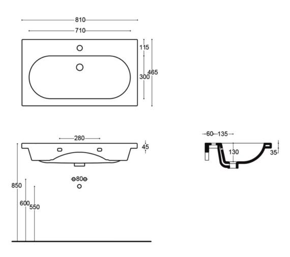 Technical drawing QS-V81649 / VB051