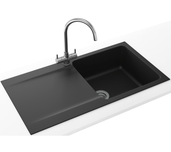 Franke Orion Propack OID 611-94 Tectonite Carbon Black Kitchen Sink And Tap