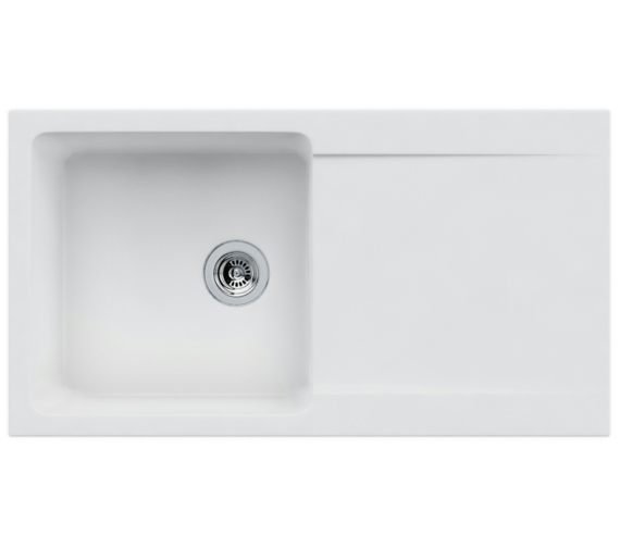 Franke Orion OID 611-94 Tectonite Polar White 1.0 Bowl Inset Sink