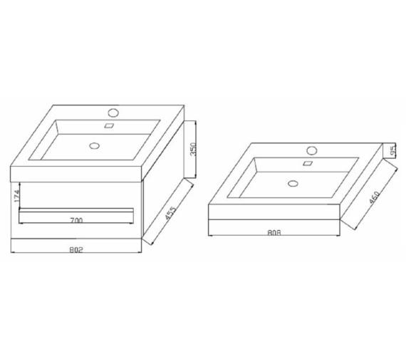 Technical drawing QS-V6741 / FV80W