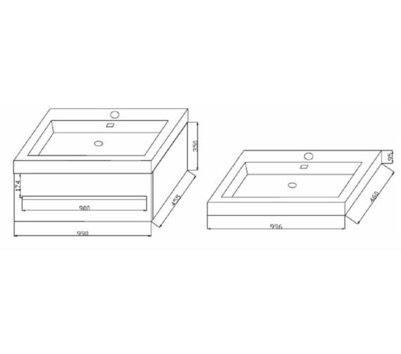 Technical drawing QS-V6742 / FV100W