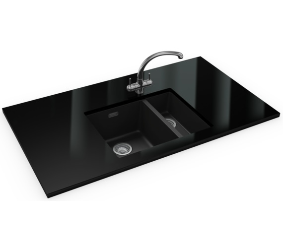 Franke Sirius Propack SID 160 Tectonite Carbon Black Kitchen Sink And Tap