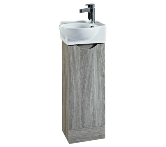Phoenix Georgia 350 x 860mm Avola Unit and Ceramic Basin
