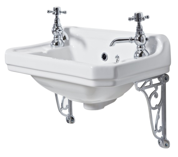 Phoenix Victoriana 500mm Cloakroom Basin With Ornate Brackets