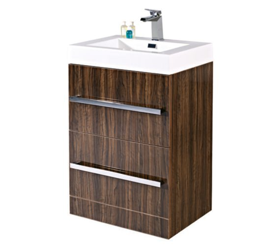 Phoenix Vue Ebony Floor Standing Vanity Unit With Basin