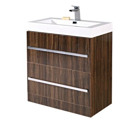 Phoenix Vue 800mm Ebony Floor Standing Vanity Unit With Basin
