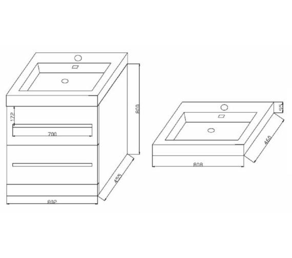 Technical drawing QS-V6738 / FV80F