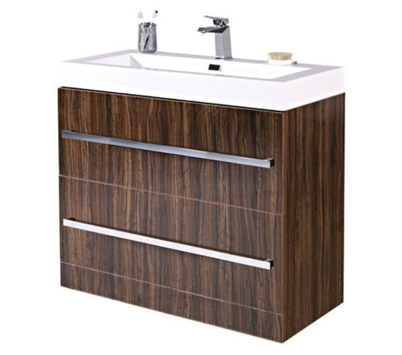 Phoenix Vue 1000mm Ebony Floor Standing Vanity Unit With Basin