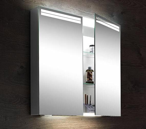 Schneider arangaline 2 door mirror cabinet 1000mm for Bathroom mirror cabinets 900mm and 1000mm