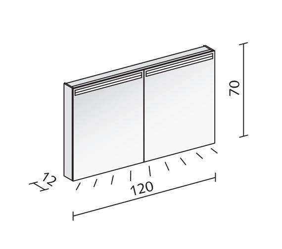 Technical drawing QS-V16544 / ARA 120/2/LED