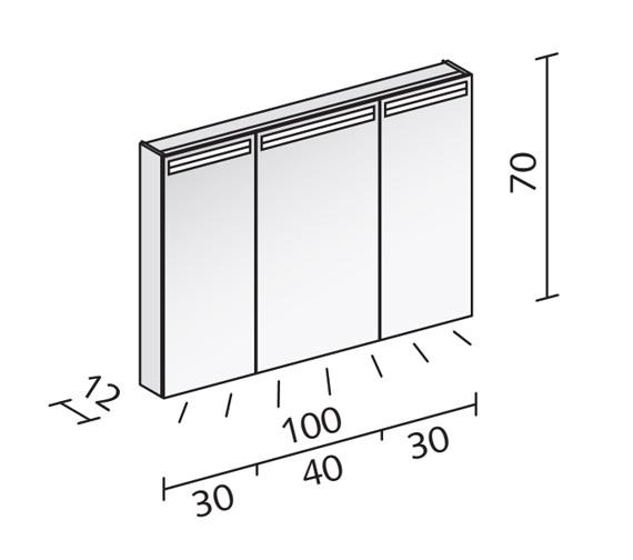 Technical drawing QS-V16545 / ARA 100/3/LED