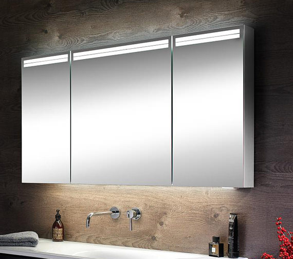 Schneider Arangaline 3 Door Mirror Cabinet 1000mm